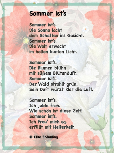 Sommer ist's