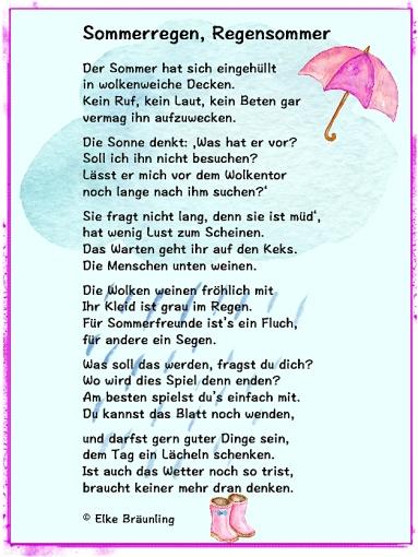 Sommerregen, Regensommer